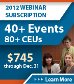 2012 Webinar Subscription